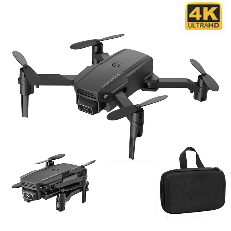 Best Mini Drone 4K 1080P HD Camera WiFi Fpv Air Pressure Altitude Hold Black And Gray Foldable Quadcopter RC Drone Toy