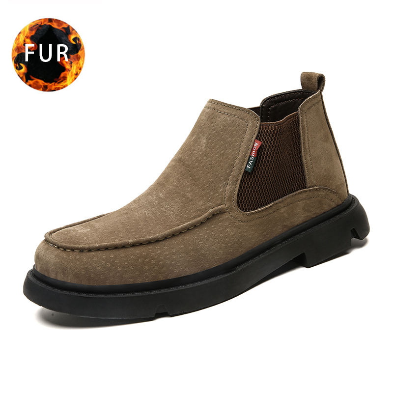 2019 Fashion Winter Snow Boots Warm Men Boots With Plush Casual Work Safety Shoes Comfortable Ankle Boots 2019 Large Size 48