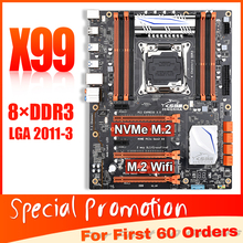 JINGSHA Scheda Madre schede madri con quad channel DDR3 X99 LGA 2011-3 fino a 256GB 3-way PCIE 3rd Gen x16 slot