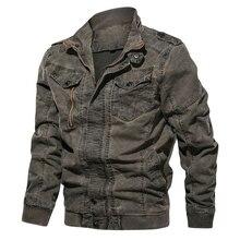 Черная джинсовая куртка для мужчин большого размера 6XL Военная Тактическая джинсовая куртка однотонная повседневная куртка пилота ВВС Casaco Masculino