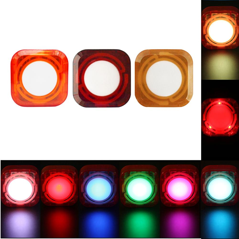 RGB NIGHT LIGHT Waterproof  Rechargeable 5 Light Model Replacingcandles  Romantic Atmosphere Construction Bicycle Tail Light