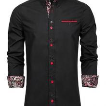 PAUL JONES Men's Long Sleeve Casual Shirt Contrast Button-Down Collar S