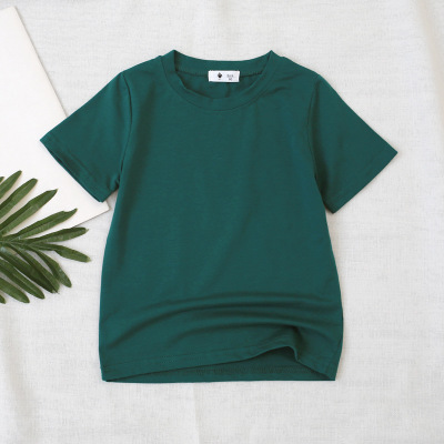 VIDMID children t-shirt Baby boys girls Cotton short sleeves tops tees clothes T-shirt kids summer solid color clothing  4006 04 4