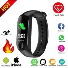 Cheap M3 Smart Bracelet smart watch Heart Rate Monitor bluetooth Smartband Health Fitness Smart Band for Android iOS tracker(China)