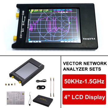 NanoVNA-H4 Network Analyzer 4 Inch LCD VNA HF VHF UHF UV Vector 50KHz Antenna