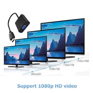 Image 5 - Rankman HDMI ל vga מתאם ממיר עם אודיו כוח קו HDMI2VGA כבל 1080P למחשב נייד DVD טלוויזיה מקרן צג טלוויזיה תיבה