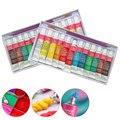 Набор акриловых красок для рисования стен, 12 цветов, с 1 кисточкой для нейл-арта, текстиля