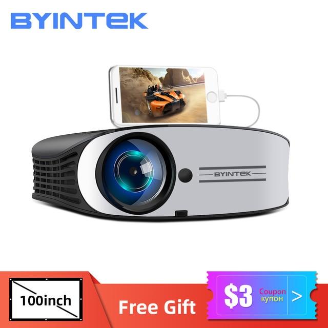 70% OFF BYINTEK M7 LED  Full HD 1080P 3D 4K Home Theater Cinema Movie  Video Projector Projektor Beamer for Smartphone Tablet PC