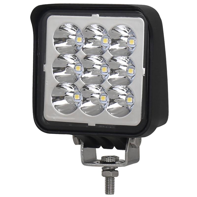 Liweida LED Spotlight Floodlight Automobile Motorcycle Square Auxiliary Lighting Small Lamp 27W Work Light