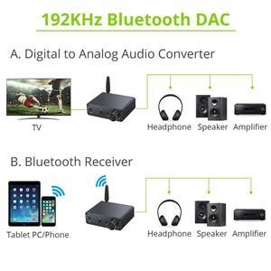 Image 5 - Prozor 192kHz Bluetooth DAC ממיר עם מגבר אוזניות 3.5mm אודיו מתאם עבור APT X AAC SBC דיגיטלי לאנלוגי ממיר