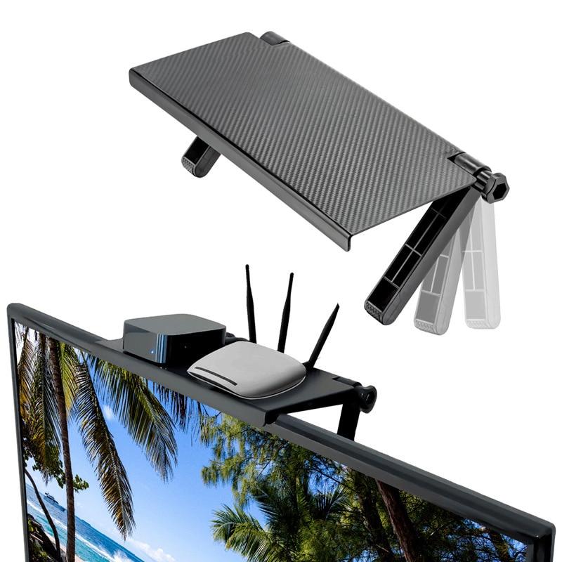 조정 가능한 화면 상단 선반 디스플레이 선반 컴퓨터 모니터 라이저 데스크탑 스탠드 tv 랙 스토리지 데스크