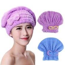Microfibre Hair Drying Shower Cap Bath Spa Bowknot Wrap Towe