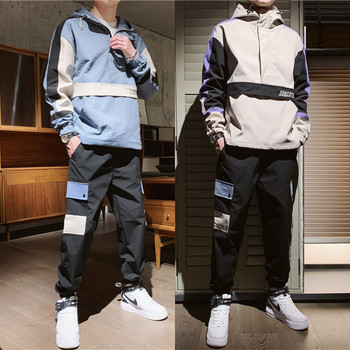 Men's Tracksuit Fall/winter Man Two-piece Set Sweat Suit Polyester Overalls Korean Leisure Suit Plus Size Hoodies/harlan Pants