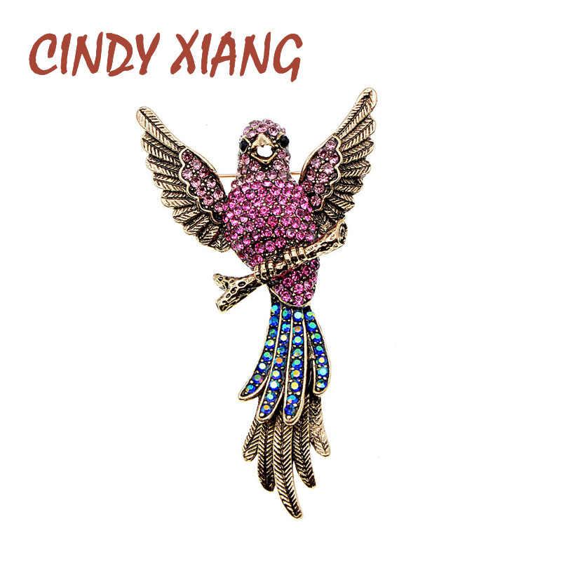 CINDY XIANG Rhinestone ขนาดเล็ก Pin เข็มกลัดสำหรับผู้หญิงออกแบบสร้างสรรค์เข็มกลัดเสื้อกันหนาวเครื่องประดับฤดูใบไม้ผลิของขวัญใหม่มาถึง