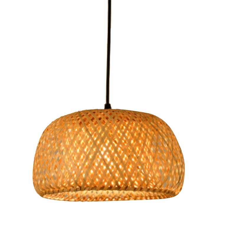 Modern Bamboo Work Hand Knitted Bamboo Weaving Chandelier Restaurant Handmade Bamboo Lantern Chandelier Hotel Home Decoration La image