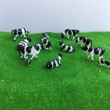 50 шт 1:87 хо Модель Масштаб коровы Миниатюрная модель животного