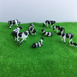 50pcs 1:87 HO Scale Model Cows Miniature Farm Animal Model Cow For Model Railway Layout Different Different Postures