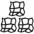 3 упаковки неправильной DIY формы для тротуара  для ходьбы  для изготовления дорожек  форма для кирпича  форма для бетона  для сада  для сада