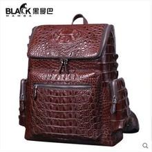 heimanba Thailand crocodile leather handbag envelope genuine hand-woven clutch bag leisure middle-aged new men backpacks