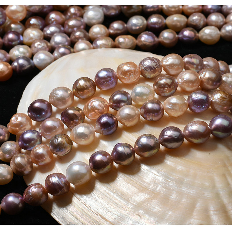 10mm/38pcs Mix Color Baroque Natural Freshwater Pearl Beads Loose Pearl Beads Diy Bracelet Necklace Jewelry Accessories