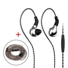 BLON BL-03 BL03 10mm Carbon Diaphragm Dynamic Driver In Ear Earphone HIFI DJ Sport Earphone