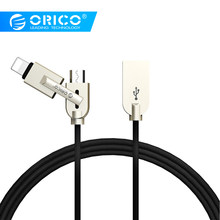 ORICO MLS Lighting Micro USB 2-in-1 Cable 2.4A Max Fast Charger Adapter Cable For iphone ipad Samsung Xiaomi Huawei(China)