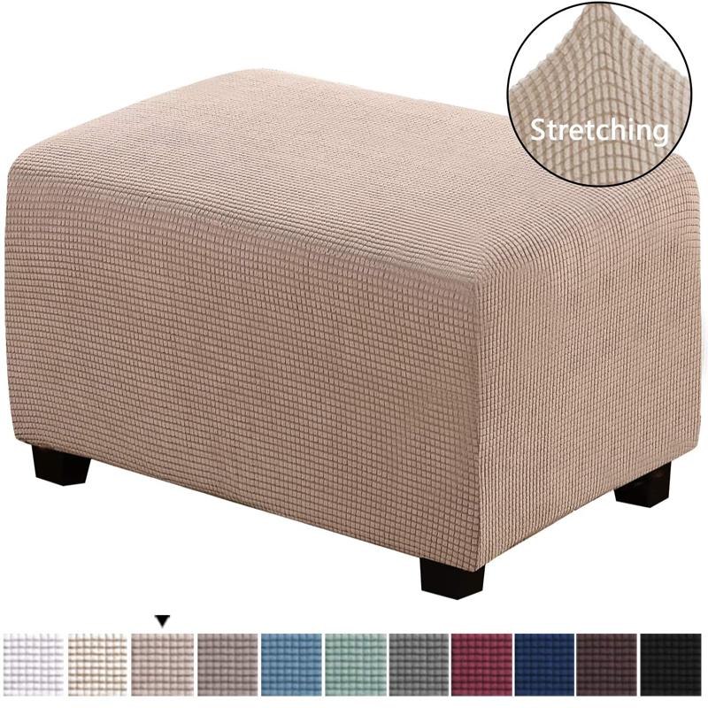 Spandex Fleece Ottoman Sofa Stool Cover Home Furniture Case Dust proof Footstool pedal Footrest Cover Rectangle