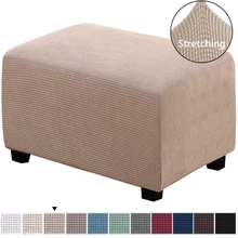 Spandex Fleece Ottoman Sofa Stool Cover Home Furniture Case Dust-proof Footstool pedal Footrest Rectangle  Slipcovers