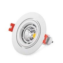 100 pièces rondes ampoule led blanche porte gobelets en aluminium cadre GU10 / MR16 led spot luminaire de plafond