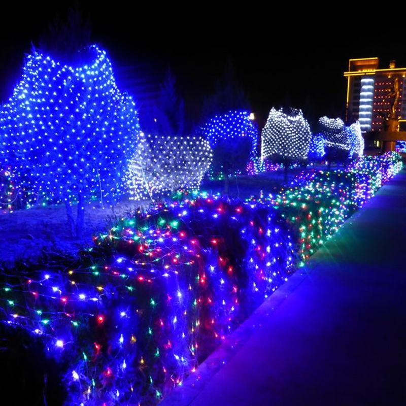 20set LED Net Light 1.5*1.5M/3*2M/6*4M 8 Kinds Of Patterns Weaving String Lights Christmas Garland Holiday Light Garden