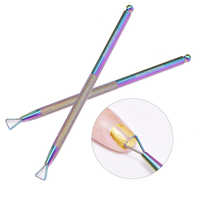 Beautybigbang Stainless Steel Nail UV Gel Polish Remover Tools Triangle Stick Rod Pusher Cleaner Manicure Nail Art Accessories