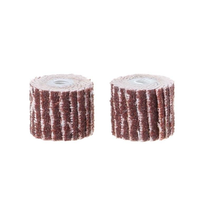 12pcs 240 Grit Sanding Flap Wheel Sand Paper Dremel Rotary Die Grinder Drill Bit