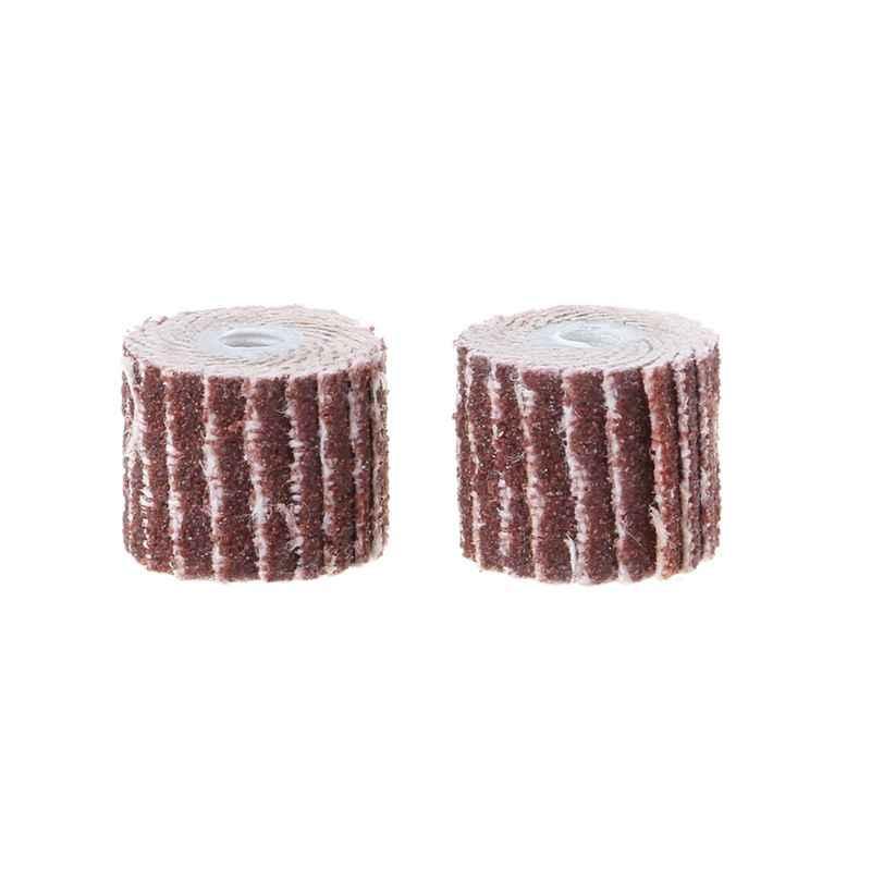 12pcs 240 Grit Sanding Flap Wheel Sand Paper Die Rotary Grinder Drill Bit