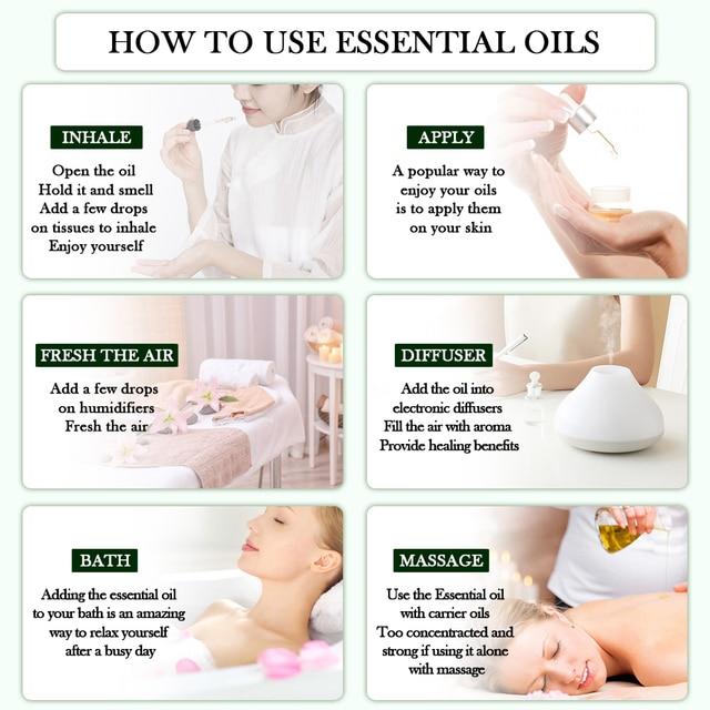 10ML Geranium Essential Oil Diffuser Pure Natural Rosemary Cinnamon Bergamot Tangerine Grapefruit Cedarwood Aroma Essential Oils 5