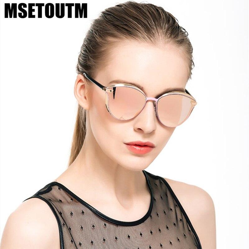 MSETOUTM Polarized 2022 Sunglasses Women's Style Metal Dazzle Color Classic Retro Brand Designer UV400 Sun Glasses Vintage 0824
