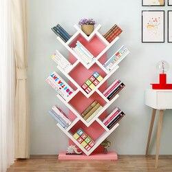 Eenvoudige Boom-vormige Boekenkasten op de Grond Geplaatst Eenvoudige Creatieve Student Boekenkasten Creatieve hartvormige Boekenkasten