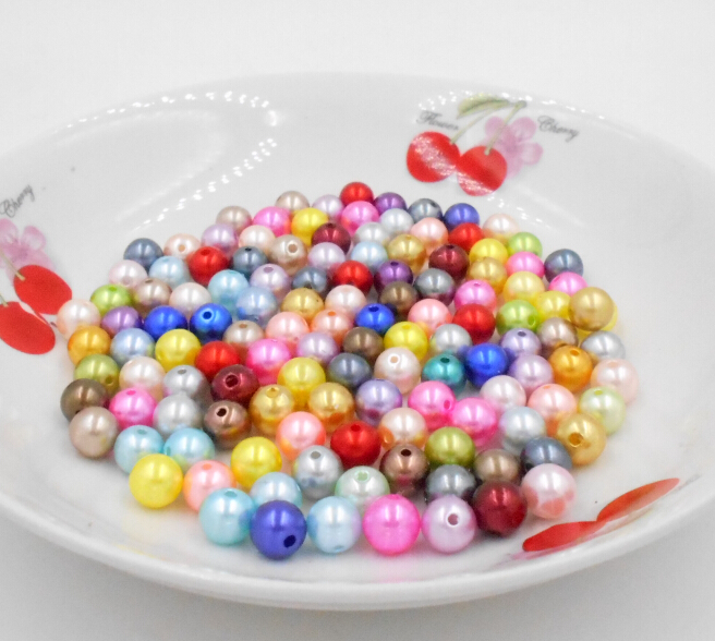 BZZ00167  Pick 15 color 8mm ABS Imitation Pearl beads  130pcs/lot for Necklace and Bracelet DIY Making (BSG01-03)