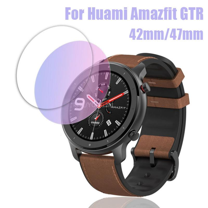 Watch ScreenTempered Film For Huami AMAZFIT GTR Smart Watch 42/47mm Watch Case Cover Screen Protector Shell Film For AMAZFIT GTR