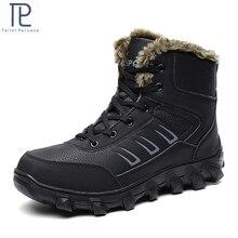 Męskie buty za kostkę Plus aksamitne utrzymuj ciepłe duże rozmiary botki antypoślizgowe buty śniegowce zimowe buty męskie sportowe trampki gumowe