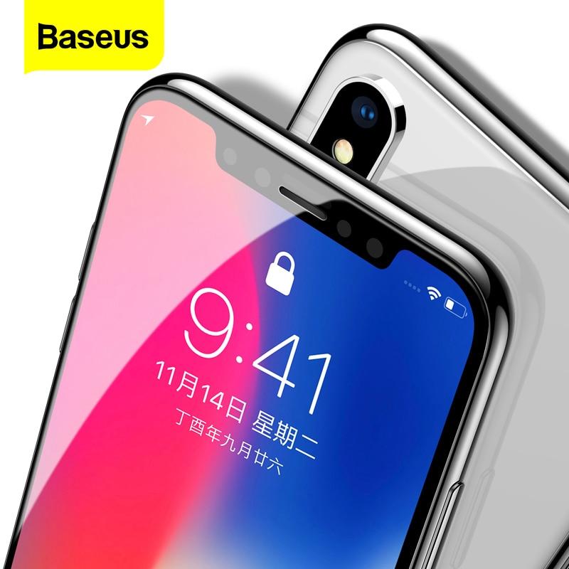 Baseus 0.3 millimetri Protezione Dello Schermo In Vetro Temperato Per il iPhone 12 11 Pro Xs Max X Xr Copertura Completa di Protezione di Vetro per il iPhone 12 Pro Max
