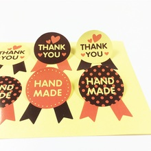80pcs/lot THANK YOU HAND MADE pattern Sealing Stickers Decoration Cake Baking Package Label Scrapbooking