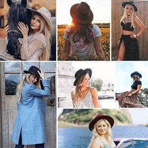 Image 5 - Furtalk 100% Australië Wol Fedora Hoed Vrouwen Mannen Hoed Dames Fedora Brede Rand Jazz Vilten Hoed Vintage Emmer Panama Winter cap