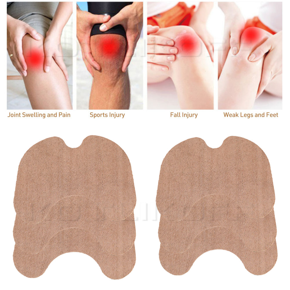 12pcs/bag Knee Plaster Sticker Wormwood Extract Knee Joint Ache Pain Relieving Paster Knee Rheumatoid Arthritis Body Patch Pads