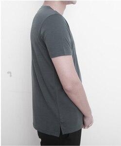 Image 4 - 2019 גברים צמר מרינו T חולצה 100% צמר מרינו איש ספורט חולצה גודל S XL רך לחות הפתילה ריח התנגדות 150G הנחה