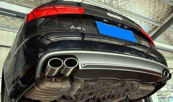 Quad Exhaust Muffler Tips Pip 1PAIR FOR AUDI A5 A6 C7 A7 Non-Sline 2012UP A081W 1