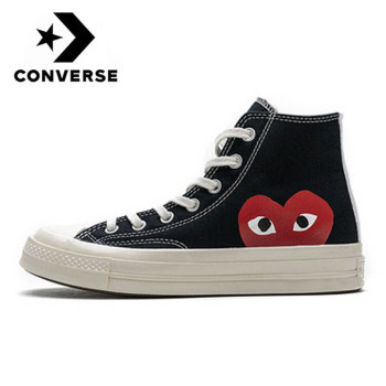 CDG Play x Converse Chuck 1970s All Star Men Women Shoes Unisex Skateboarding Sneakers Flat High Low Daily Leisure Canvas Shoes stylish skateboarding shoes unisex classic white shoes men women leisure waterproof air cushion skateboard shoes flat sneakers