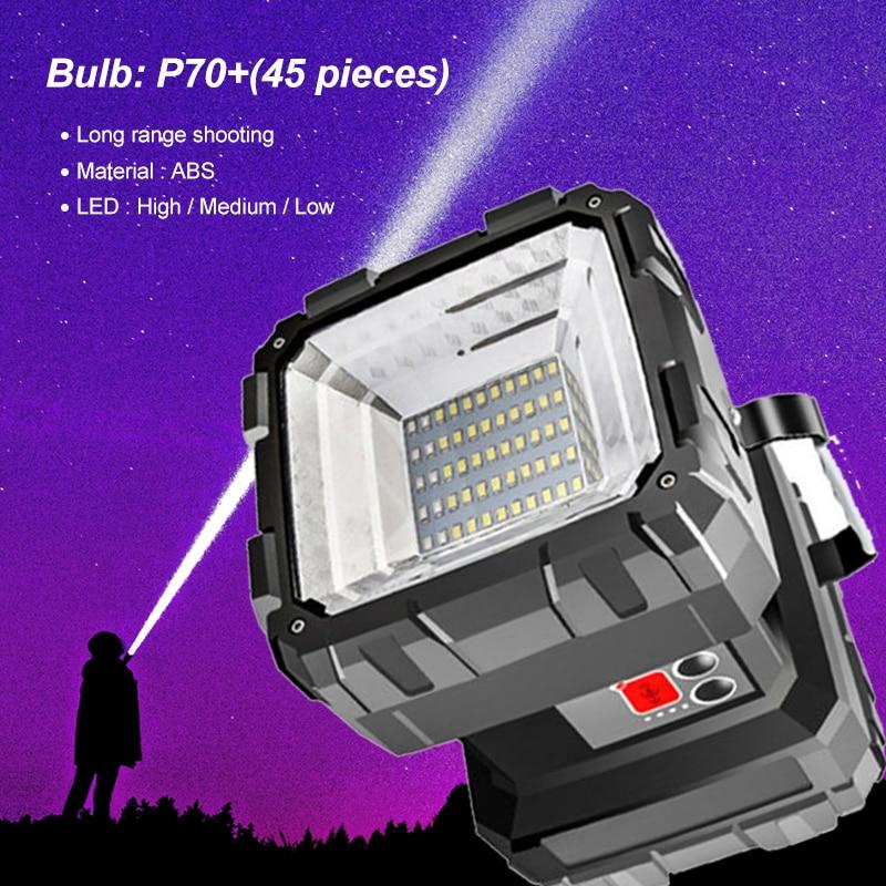 Super Bright 150000LM L2//XHP70 LED Searchlight Double Head Flashlight Lantern
