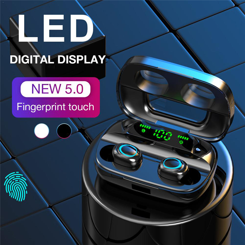 Touch <font><b>Bluetooth</b></font> Kopfhörer Wireless <font><b>Noise</b></font> <font><b>Cancelling</b></font> Headset HD Anruf TWS LED Ohr knospen <font><b>Bluetooth</b></font> Ohrhörer Wasserdichte V5.0 TWS S11 image