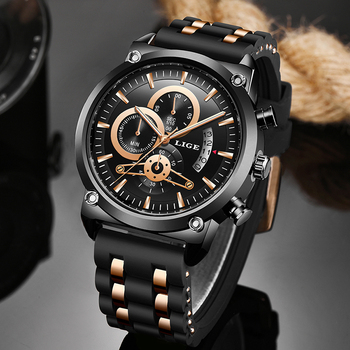 Relogio Masculino 2020 Warterproof Watch Sports Silicone Mens Watches LIGE Top Brand Luxury Clock Male Business Quartz Watch Men