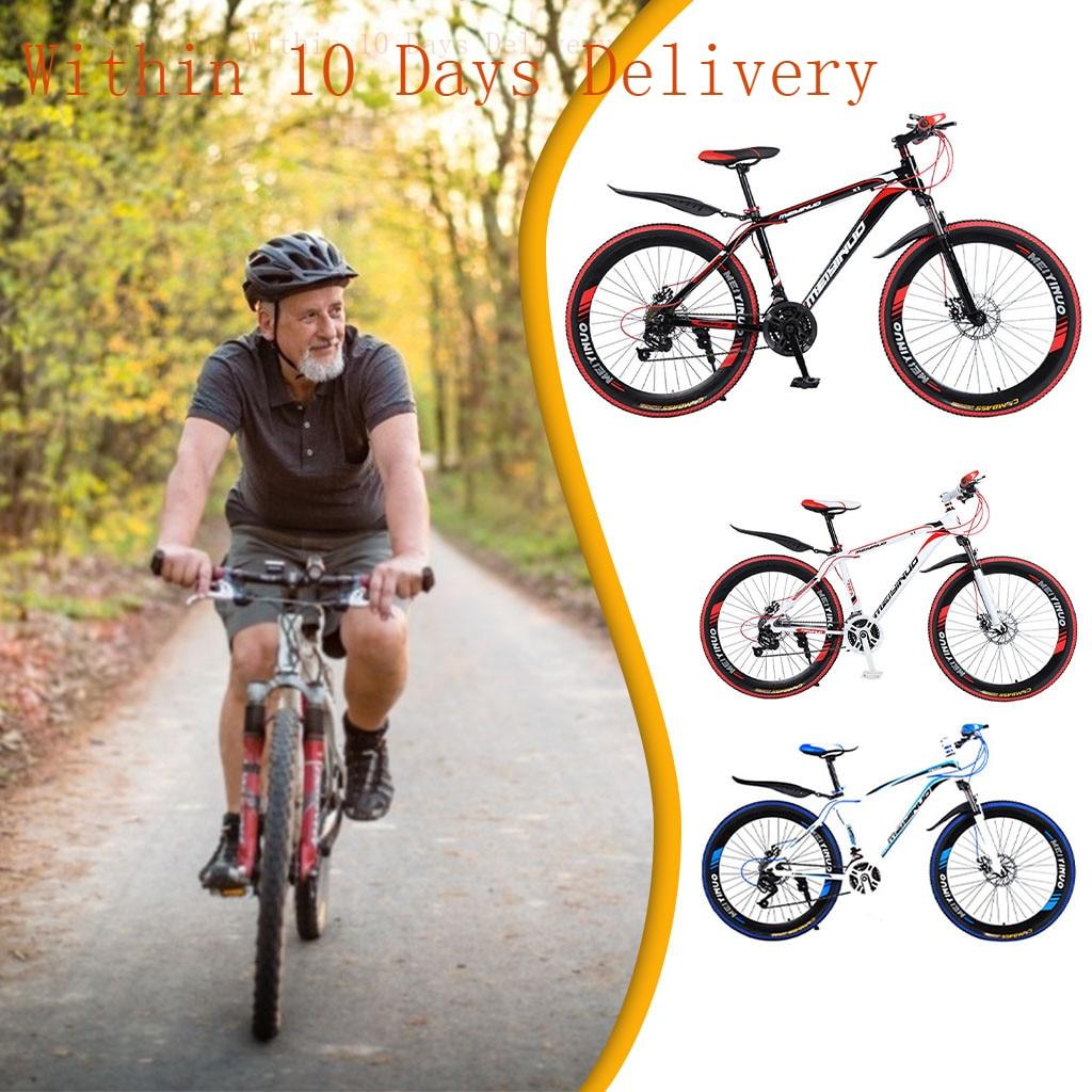 Trabalhar para Fora da Bicicleta Liga de Alumínio Velocidade da Bicicleta para Adultos para Mulheres dos Homens Biicleta Outroad Mountain Bike Polegada 21 Estudante Presente 26